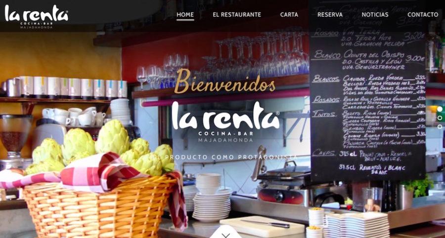 La Renta Cocina Bar estrena web